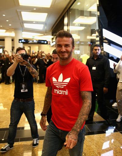 David Beckham a inaugurat un magazin Adidas in Dubai