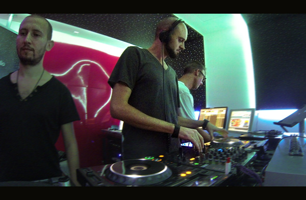 Studiorile Ibiza Global Radio - Gruia, Viorel Dragu, David Moreno