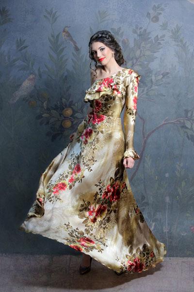 rochie-de-seara-cu-un-umar-asimetrica-matase-naturala-imprimata