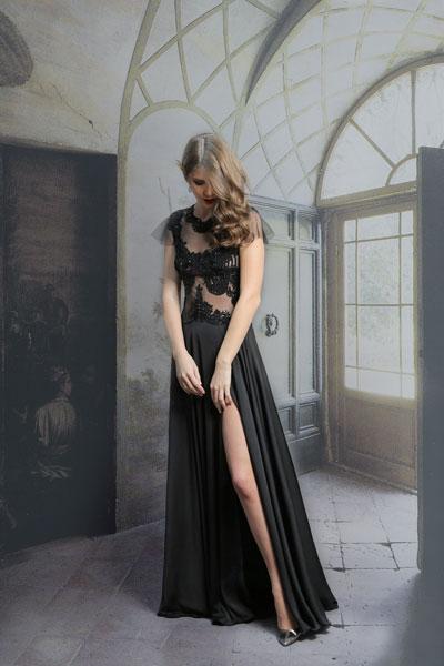 rochie-de-seara-neagra-eleganta-cu-broderie-de-margele-si-paiete-si-fusta-din-saten-gabriel's-fashion