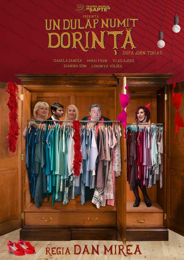 """Biletele la comedia """"Un dulap numit dorinta"""" costa 30 de lei si s-au pus in vanzare atat la casieria Casei de Cultura a Sindicatelor."""