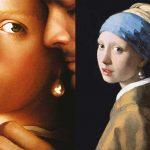 Fata cu cercel de perla, filmul care din start te duce cu gandul la celebra pictura a lui Johannes Vermeer (1632 - 1675), pictura care de altfel infatiseaza portretul unei femei cu ochi verzi ce poarta un turban exotic pe cap.