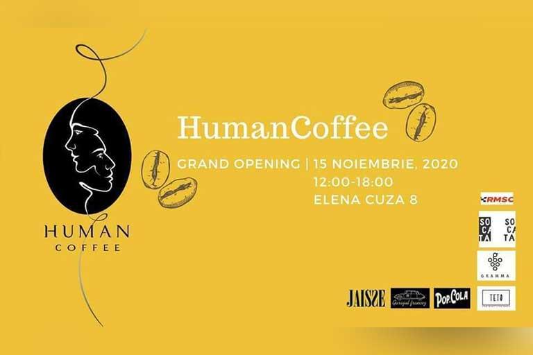 HumanCoffee este o cafenea de specialitate deschisa de Stefan Rebeja, dansator si tanar antreprenor, care doreste sa uneasca toti oamenii creativi si speciali.