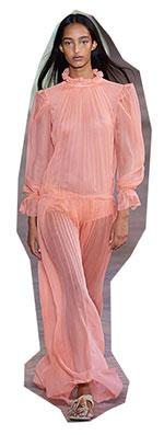 Multe LOOK-uri voluminoase si rochii transparente, care curg liber, formeaza una dintre cele mai sexi tendinte moda primavara vara 2021.