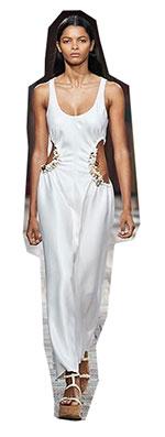 Una dintre cele mai atragatoare tendinte moda primavara vara 2021 sunt decupajele, fiind vazute rochii stranse pe corp cu multe decupaje de dimensiuni variabile