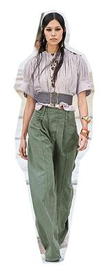 Avand in vedere ca acesti pantaloni fac o usoara trimitere catre anii '80, poate fi catalogata ca subtendinta secundara pentru sezonul calduros 2021.