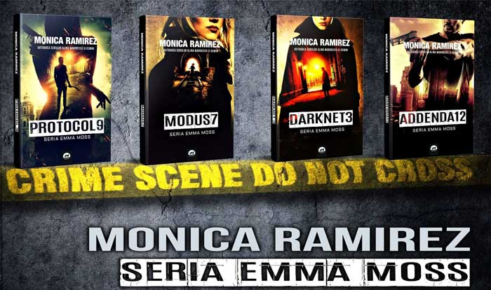 Monica Ramirez are in lucru mai multe proiecte editoriale, cum ar fi Modus 7, urmatorul volum al Seriei Emma Moss, precum si Configurat, primul volum al Seriei Metropolis.