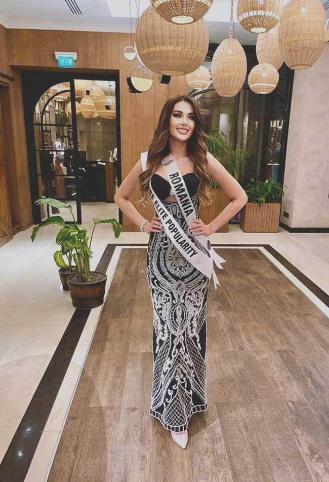 Iolanda Anamaria Babau a reprezentat Romania la concursul Miss Elite 2021 unde a castigat Miss Elite Popularity.