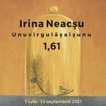 1,61: Unuvirgulasaisunu, astfel este intitulata expozitia Irinei Neacsu si reuneste o serie de lucrari in ulei si acuarela,