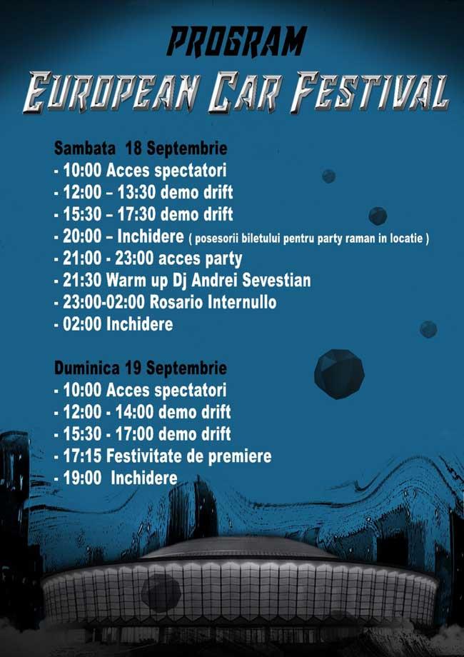 European Car Festival este primul festival auto de tuning organizat de 94 SXL Club care se va desfasura in complexul expozitional Romexpo, Pavilionul Central.