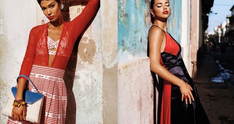 Adriana Lima si Joan Smalls in Viva Cuba