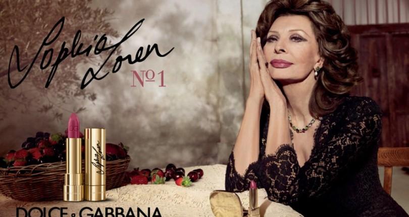 Rujul Sophia Loren N°1 pentru Dolce & Gabbana